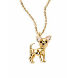 KATE SPADE Haute Stuff Chihuahua Necklace
